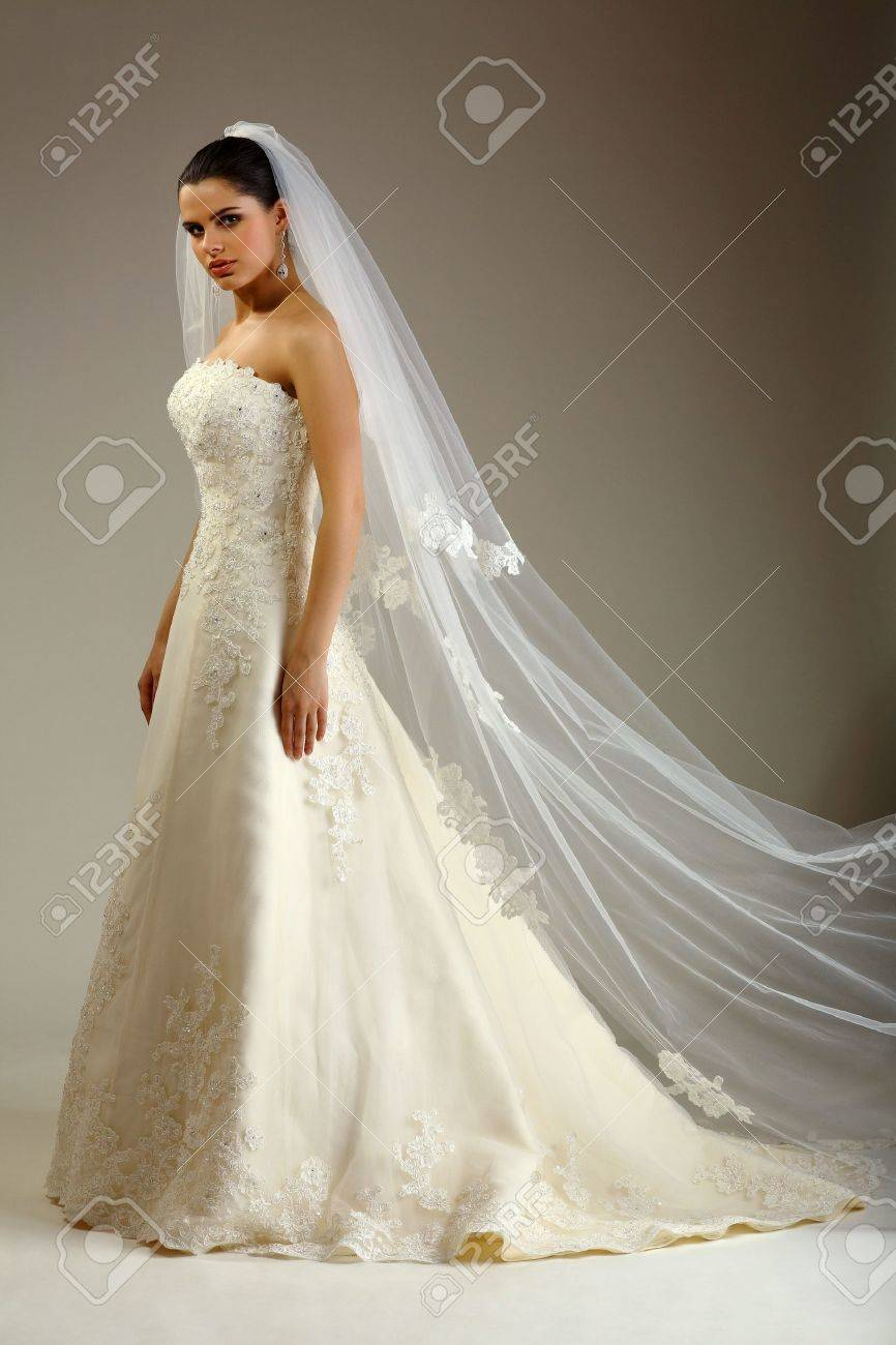 Girl is in wedding dress Stock Photo - 8810313