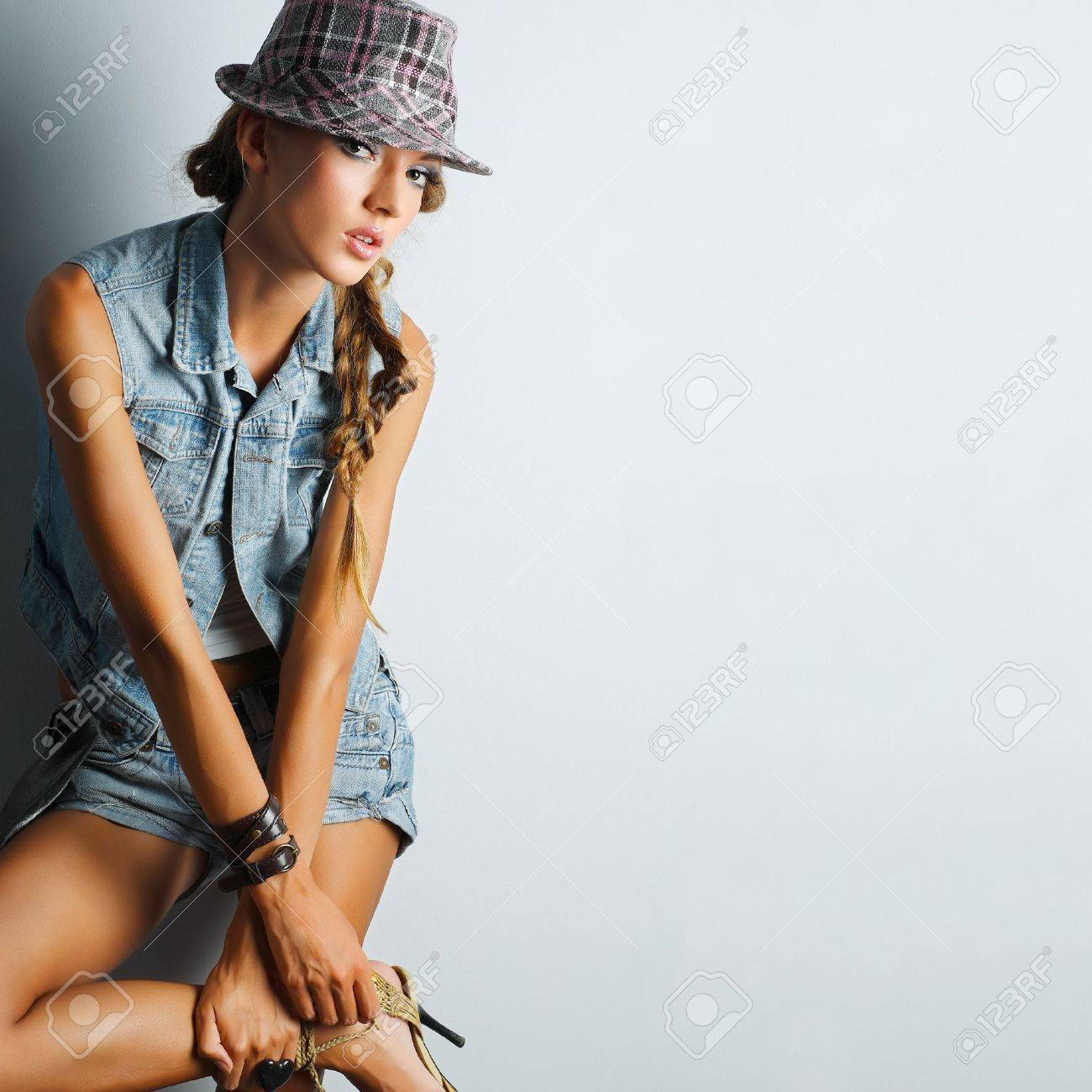 A photo of beautiful girl is in fashion style Stock Photo - 10358158
