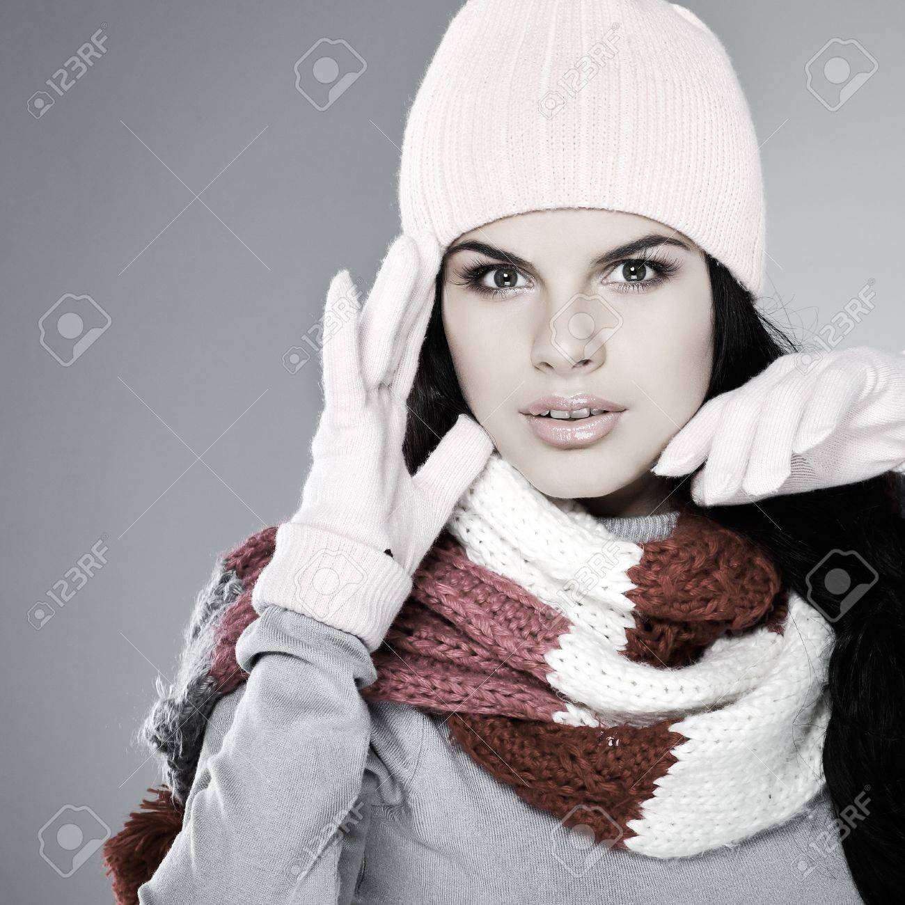 A photo of beautiful girl is in winter clothes Stock Photo - 10602582