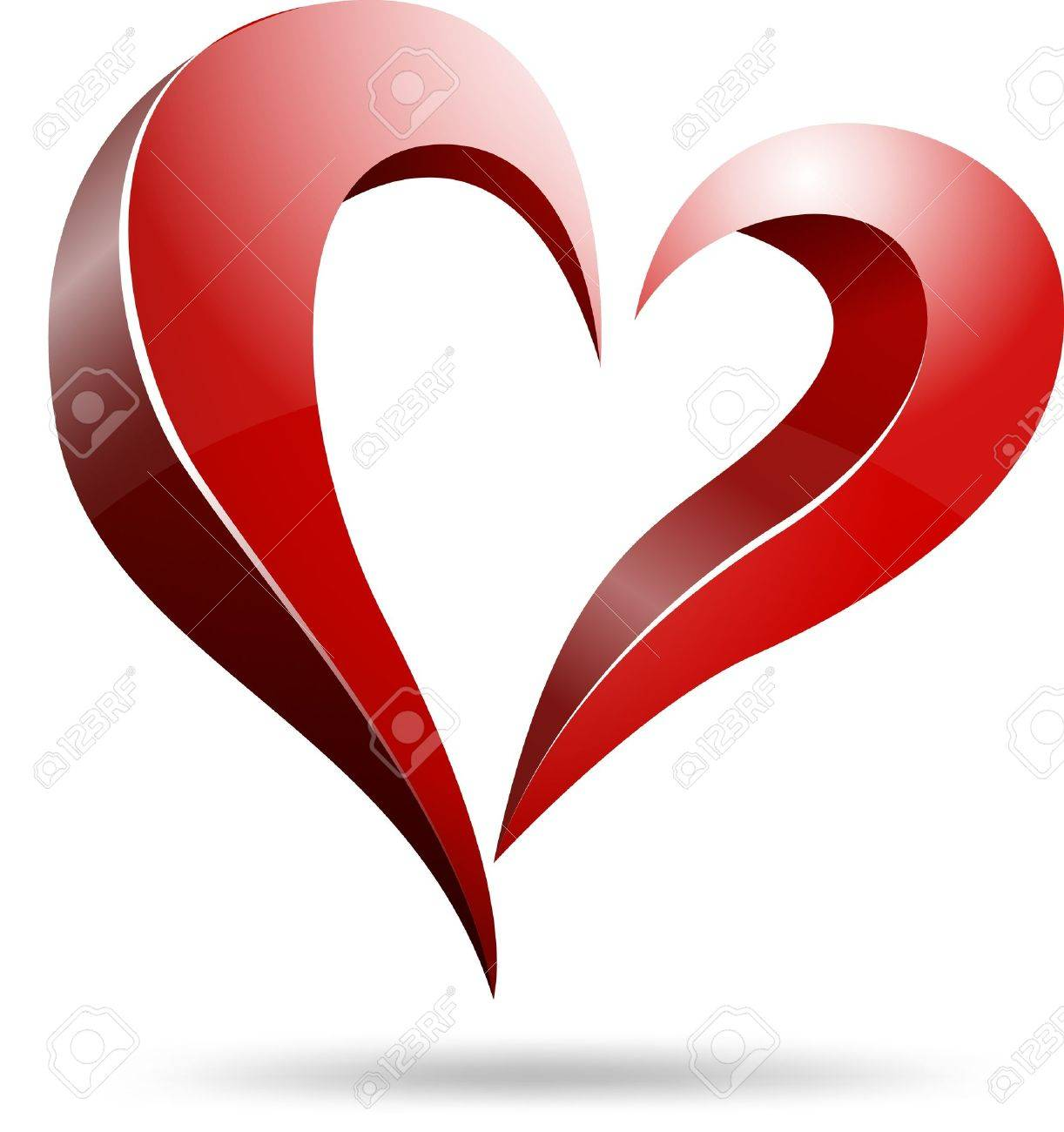 Logo heart shape design Stock Vector - 19970188
