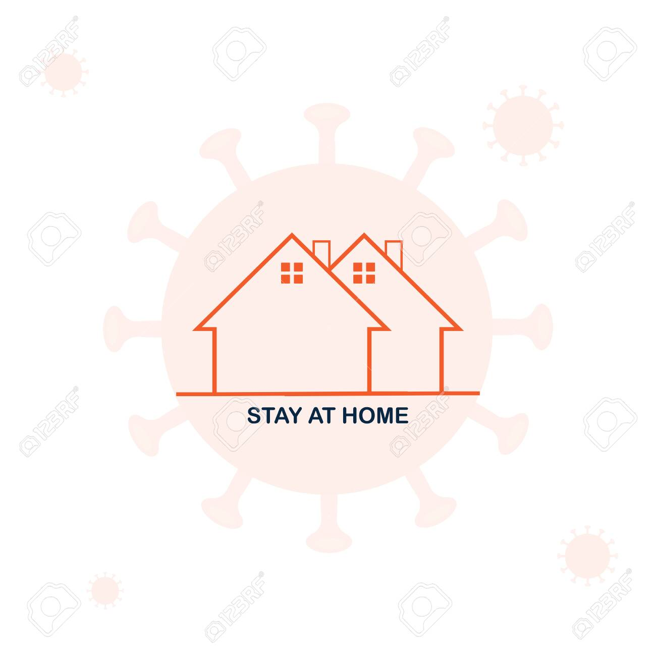 Novel Coronavirus (2019-nCoV). Stay at Home Order icon. A Stay at Home order is the Governor directing people to avoid going out in public unless it is absolutely necessary - 143045445