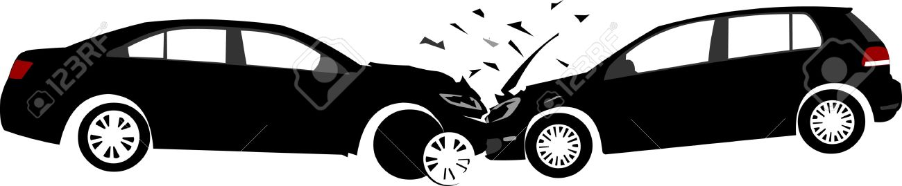 Car Crash Concept. Layered Vector Illustration. Royalty Free ...