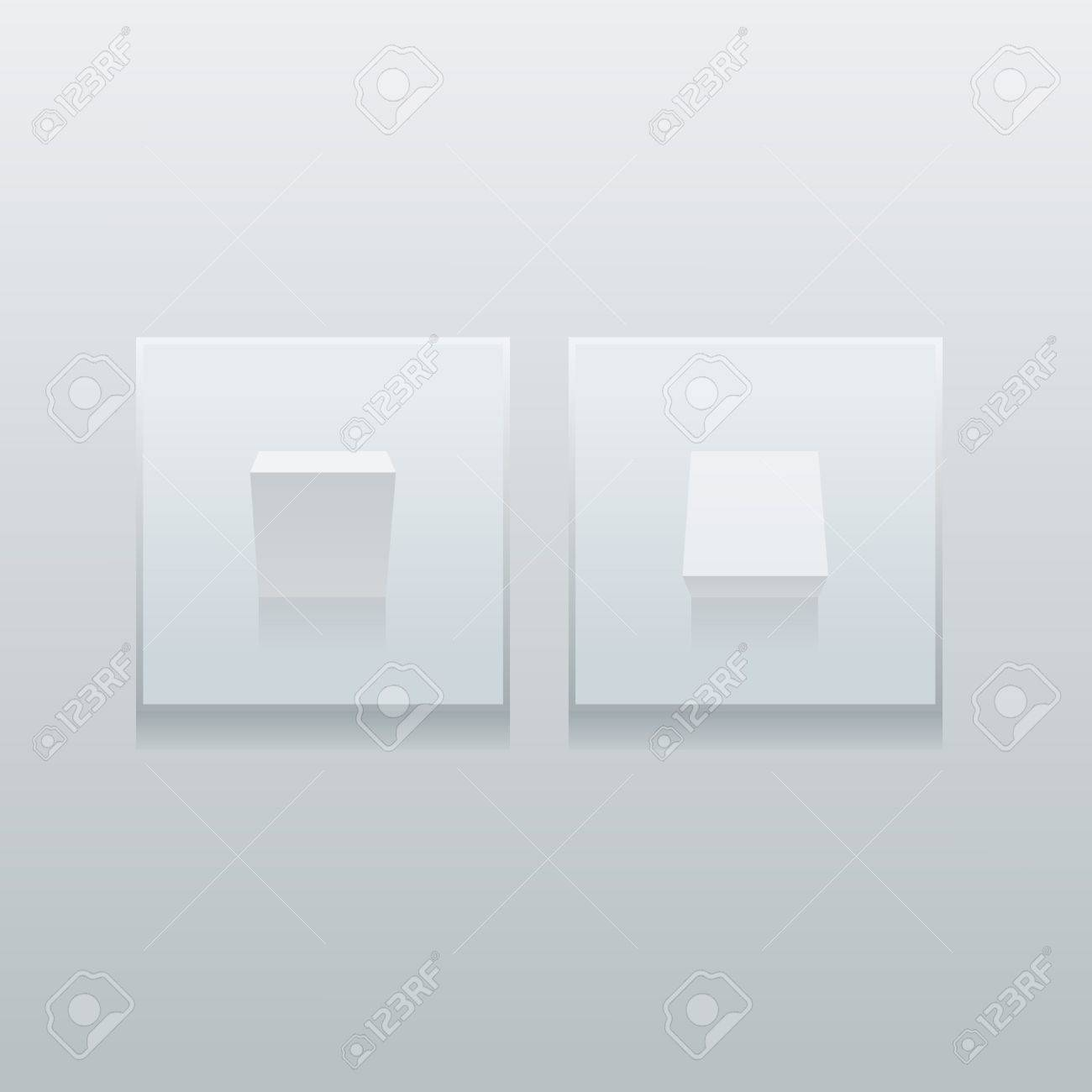 Two modern simple minimalistic light switches on the wall  Easy editable layered vector illustration Stock Vector - 20699733