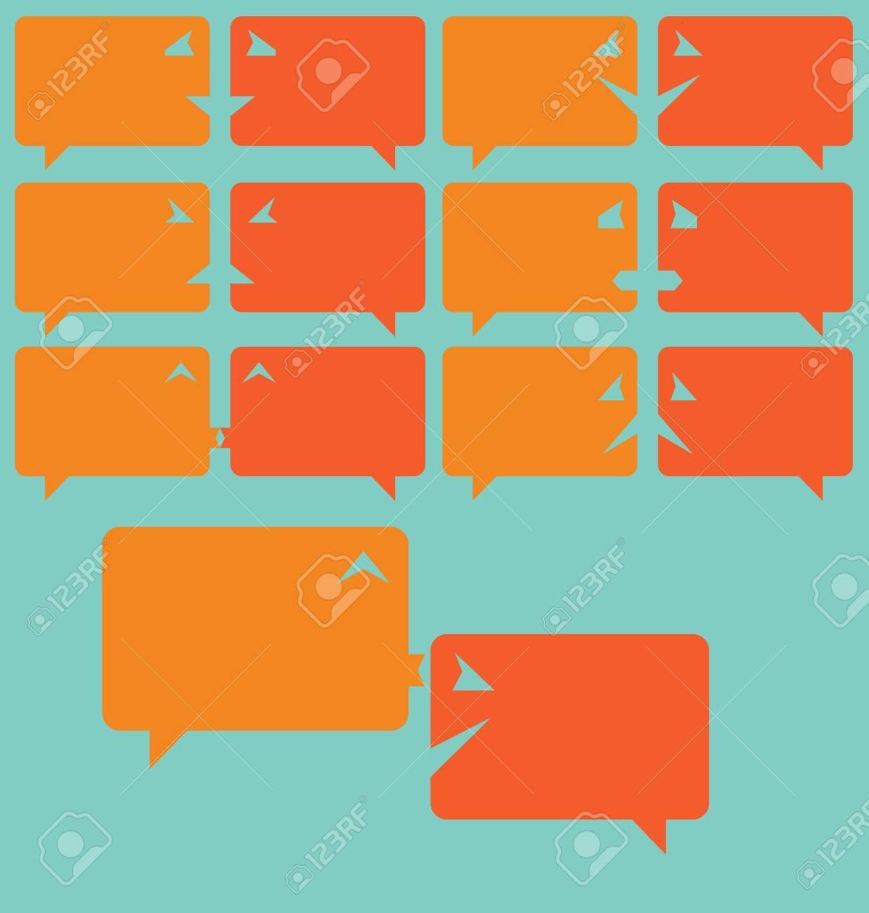 Flat design speech bubbles as emoticons Easy editable layered vector concept Stock Vector - 20699732
