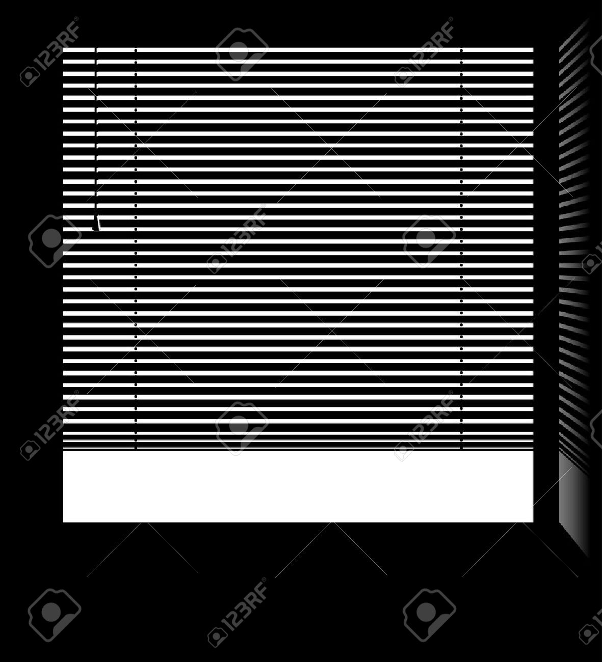 office window blinds. Office Window With Jalousie Blinds Isolated White Parts Stock Vector - 24557786 P