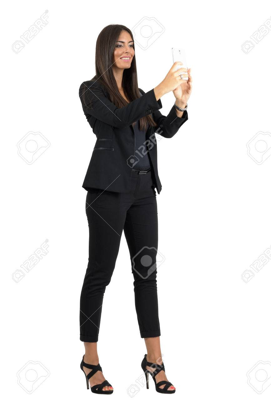 Traje negro formal para mujer