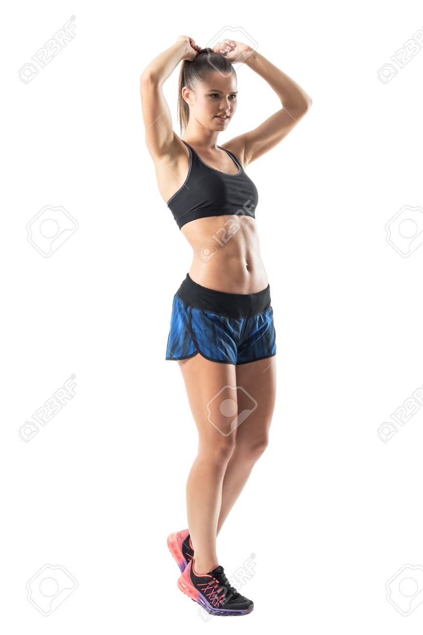 自信を持って運動女性運動に備え...