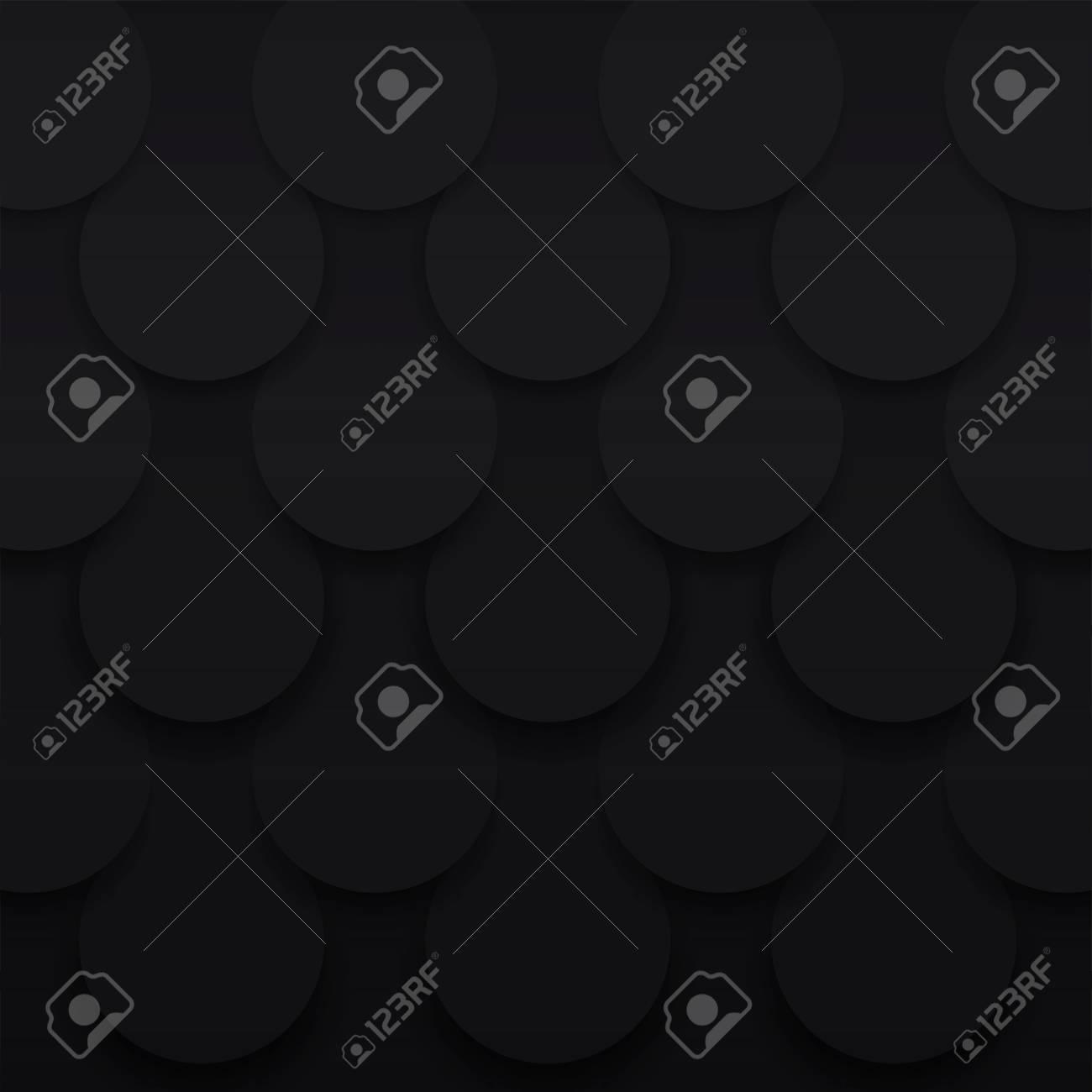 Retro Hintergrund Volumen Schwarzes Muster Skala Vektor Dunkle