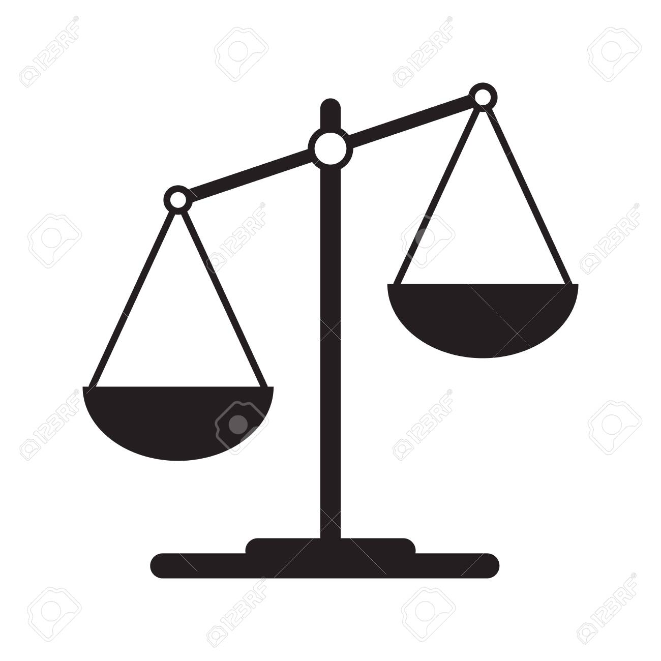 Scales icon in flat style. Libra symbol, balance sign. Vector design element for you project - 141125055