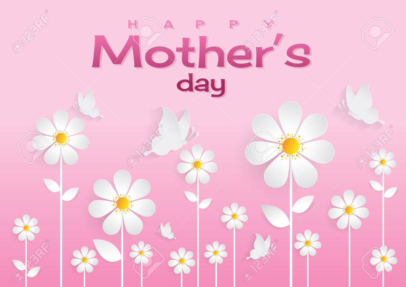 happy mother s day sweet flower background can be use for greeting