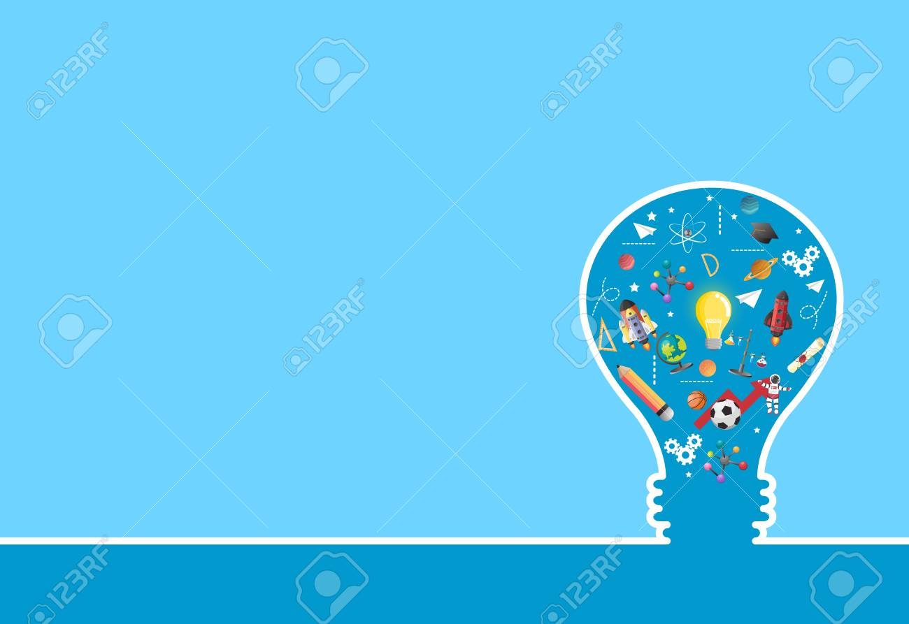 idea on light bulb.education concept.can be used for layout.vector - 81378888