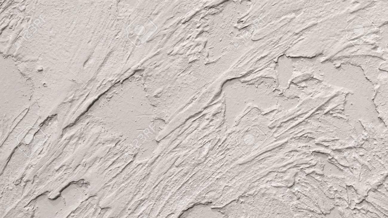 weiß verputzte wand fragment mit brushstrokes handmade abstrakte