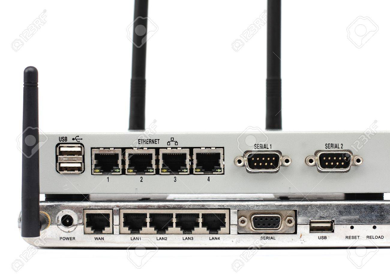 Connect The Ethernet Port On The Back Of The Router Stock Photo ...
