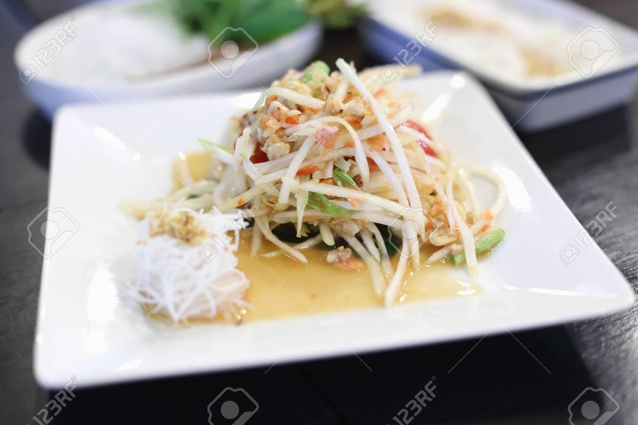 The crab green papaya salad Stock Photo - 21639657