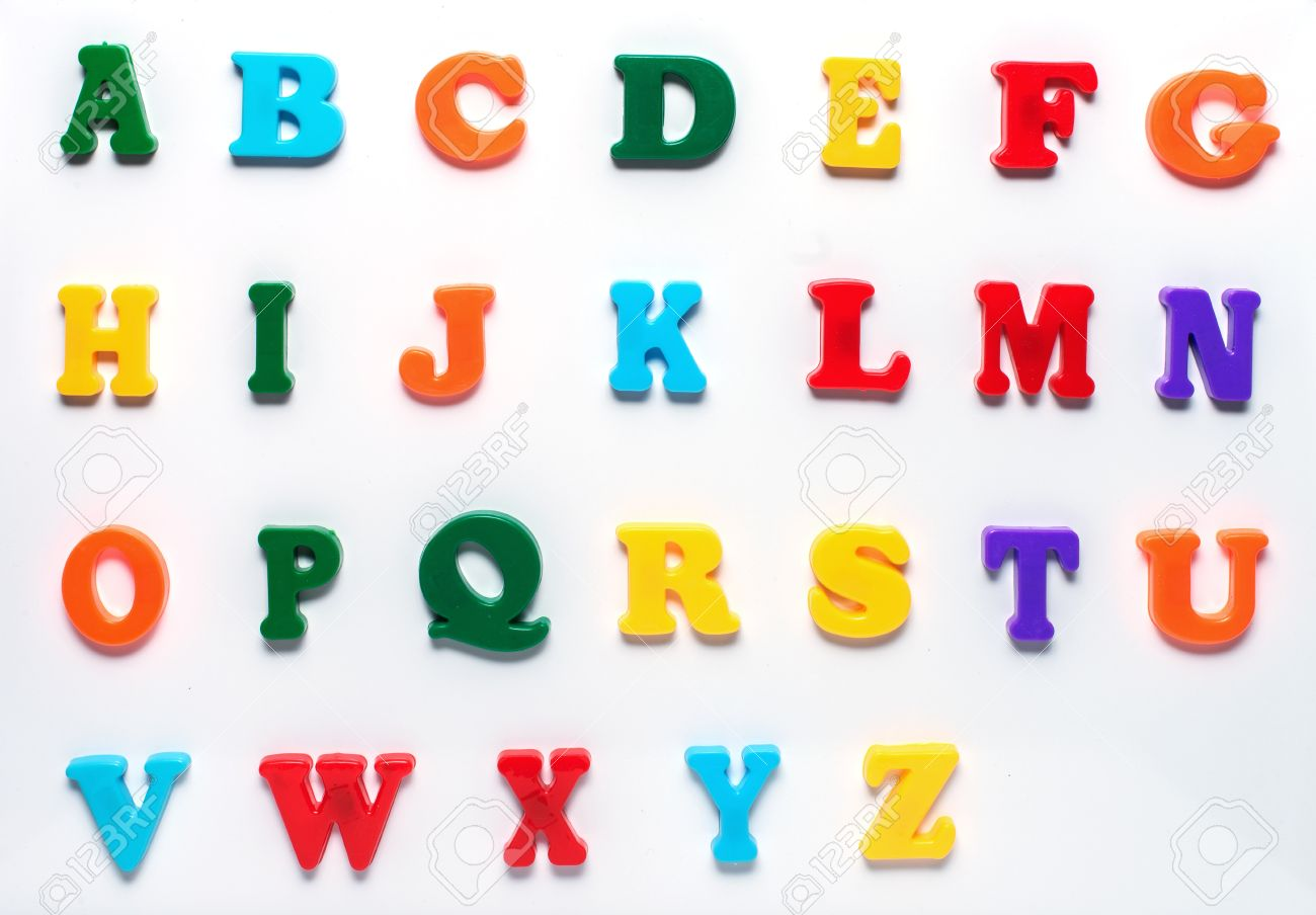 English Toy Alphabet With Capital Letters Isolated On White ...