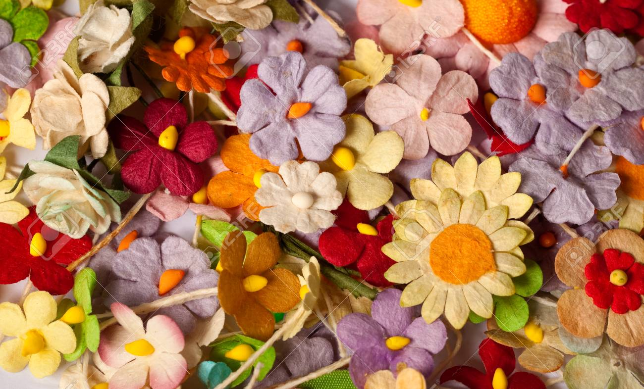 Colorful of handicraft paper flower stock photo picture and royalty colorful of handicraft paper flower stock photo 24018157 mightylinksfo