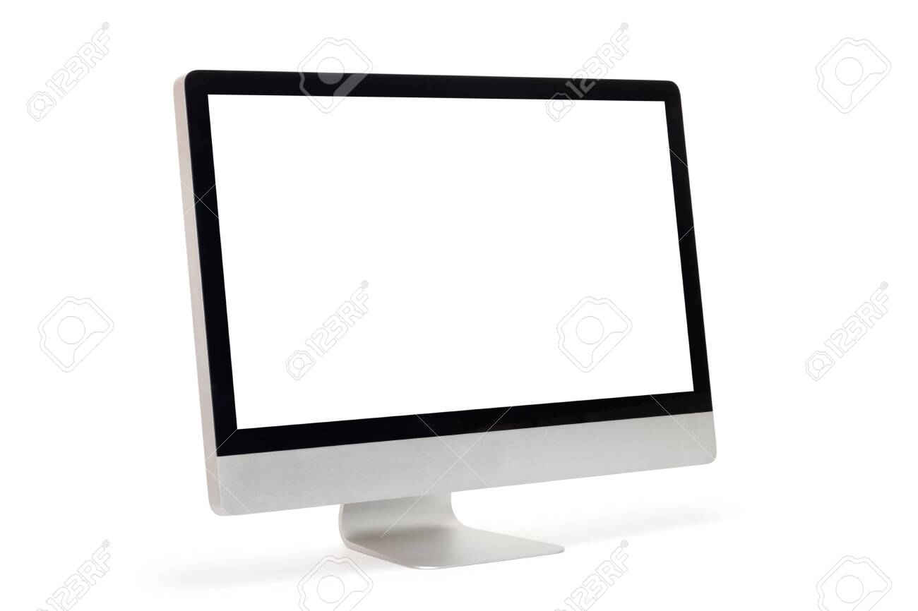 Computer monitor isolated on white background - 150058345