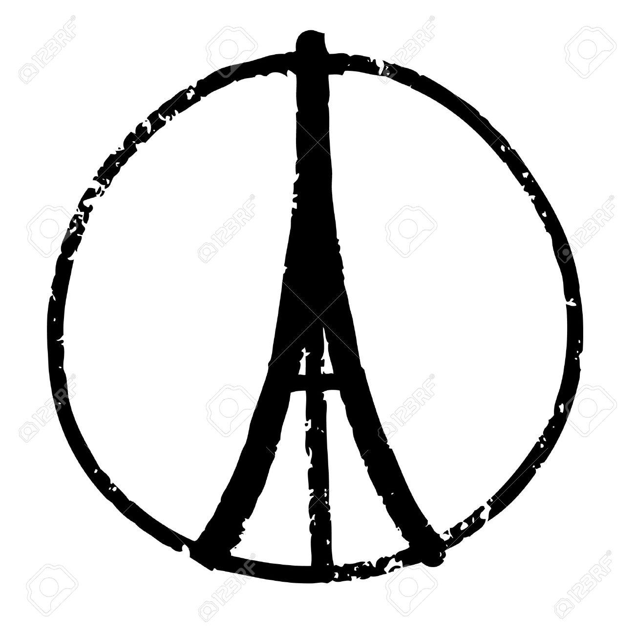 Préférence Freehand Illustration Croquis De La Tour Eiffel, Symbole De La  NE21