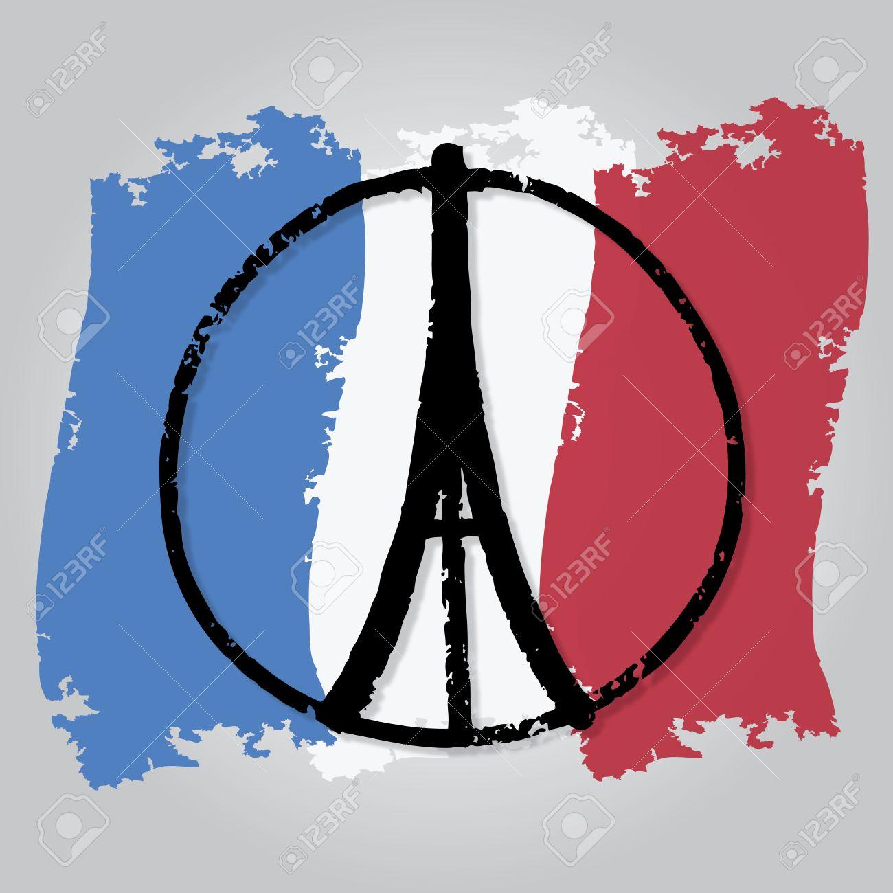 La Bandera De Francia Para Dibujar