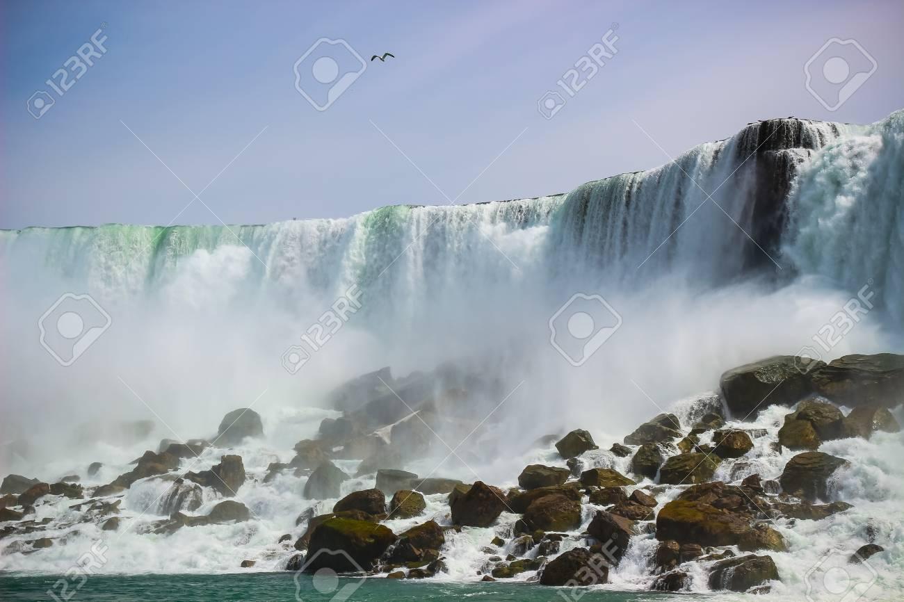 American Side Of The Beautiful Niagara Falls New York Usa