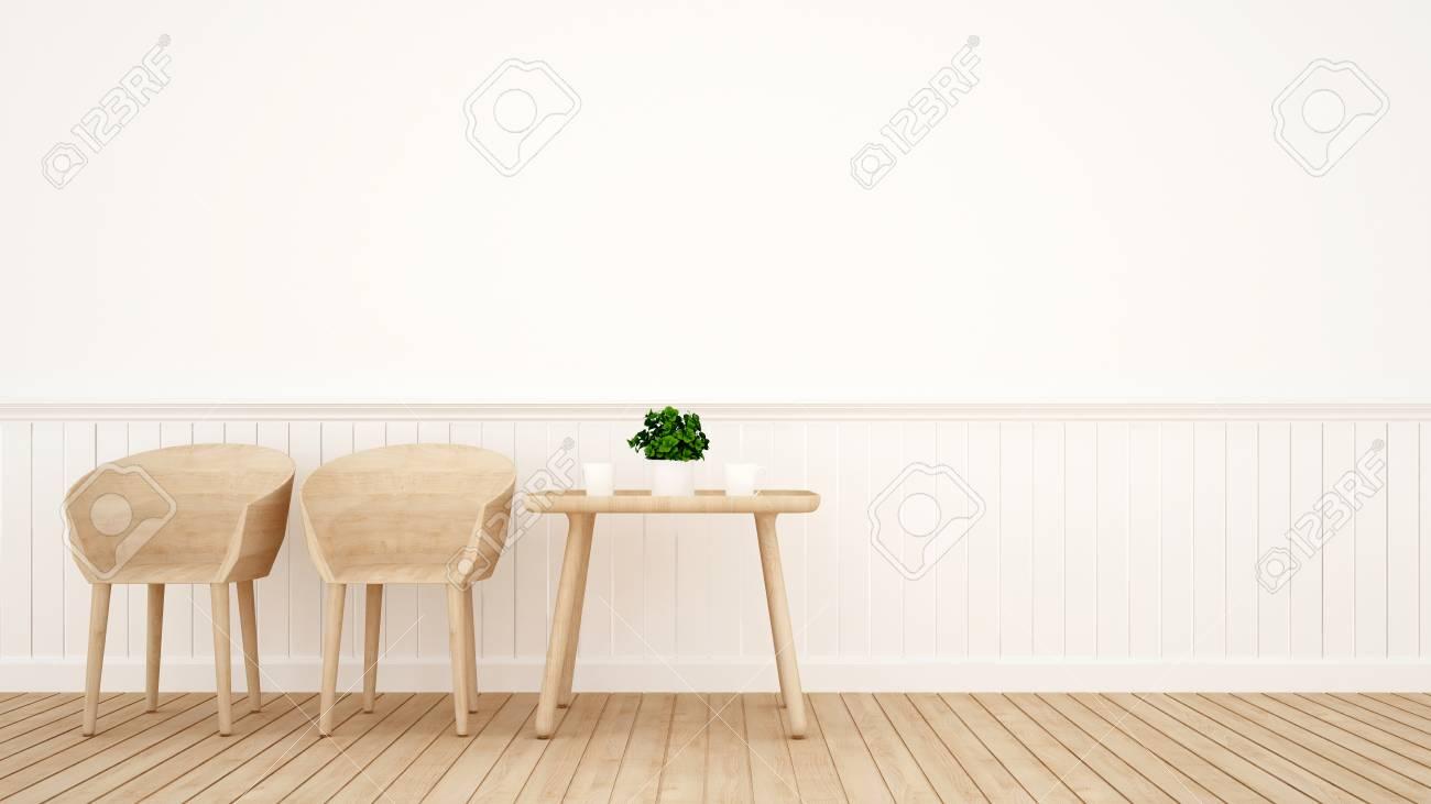 Sala Da Pranzo Disegno.Sala Da Pranzo O Caffe Sul Disegno Del Legno Rendering 3d