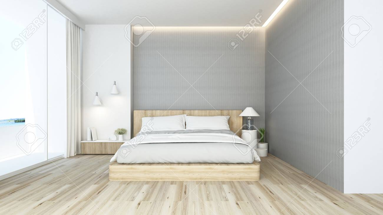 Bedroom And Living Area In Hotel Or Apartment Interior Design 3d