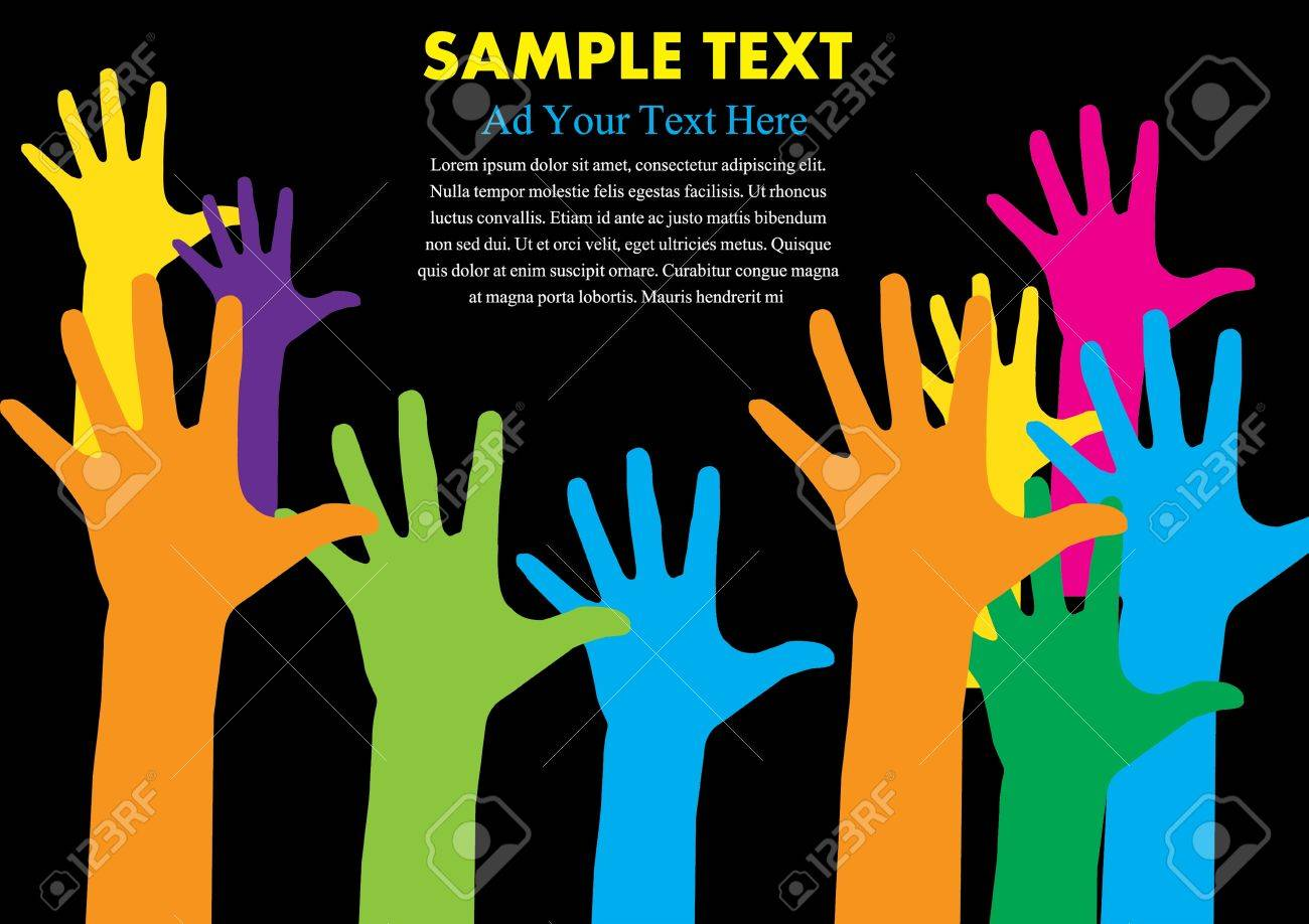 hand colorful with copy space vector illustration Stock Vector - 16318804