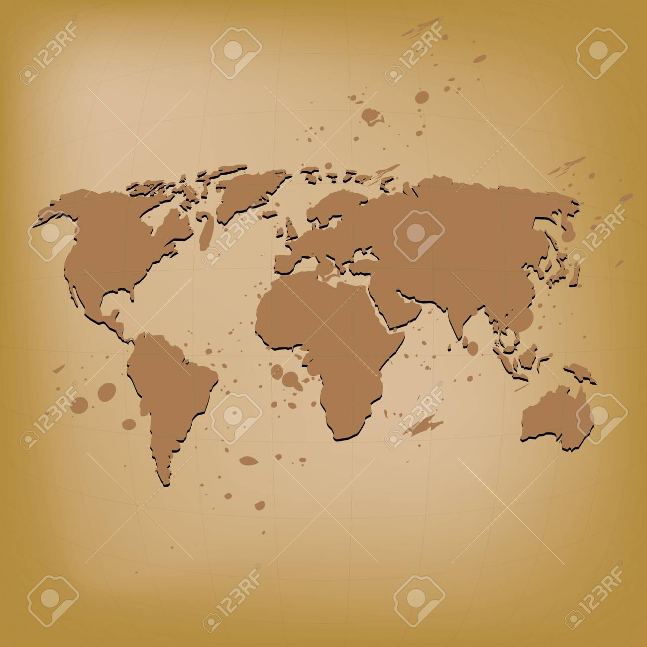 Old world map vector illustration royalty free cliparts vectors old world map vector illustration stock vector 16319513 gumiabroncs Choice Image