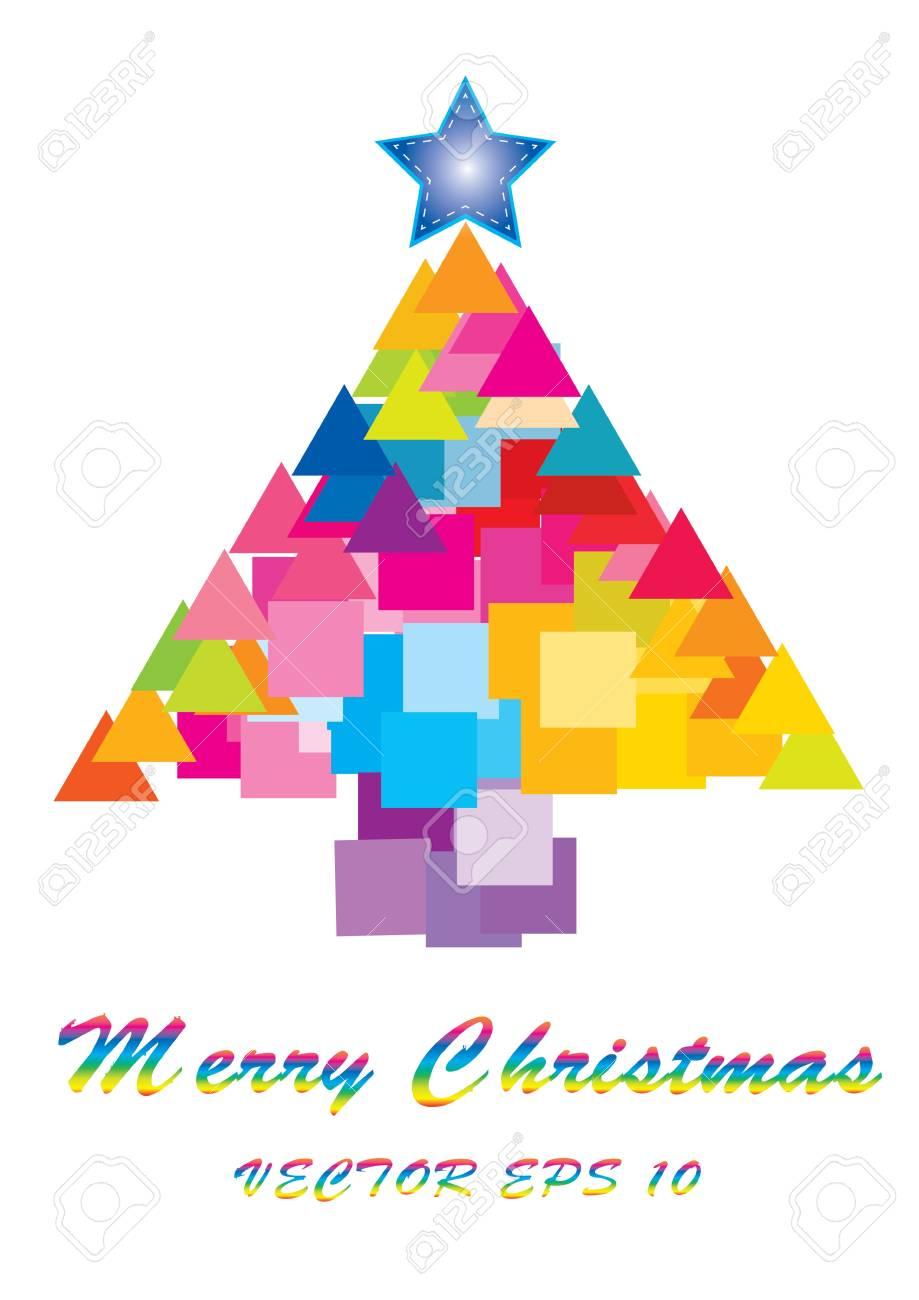 Christmas tree background vector illustration Stock Vector - 16318782