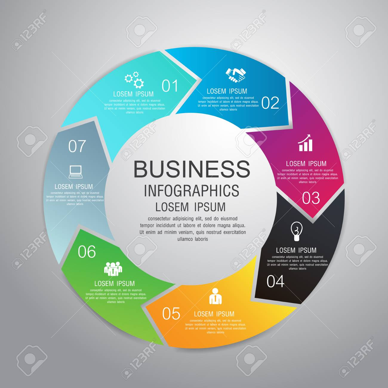 Vector Kreis Infografik Business Template-Design. Kann Für Workflow ...