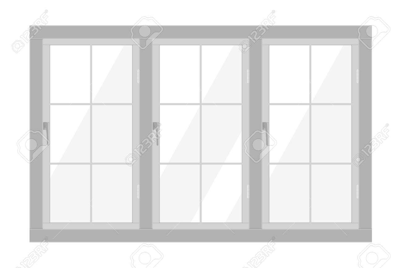 White window frame isolated on white background - 156790730