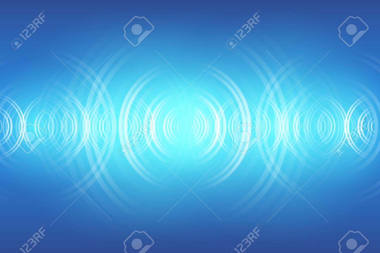 abstract digital sound wave background - 112089035