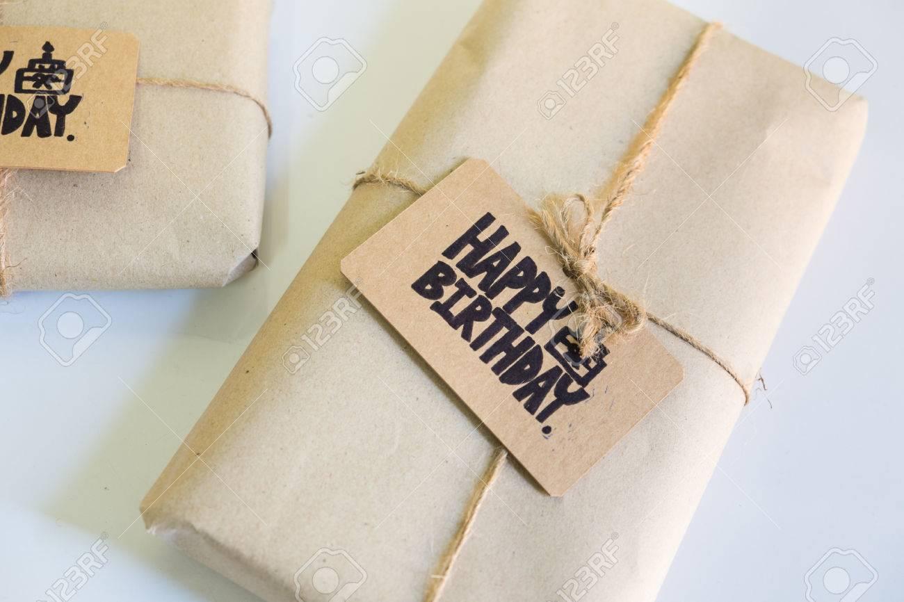 Handmade Gift With Happy Birthday Card Celebration Congratulation