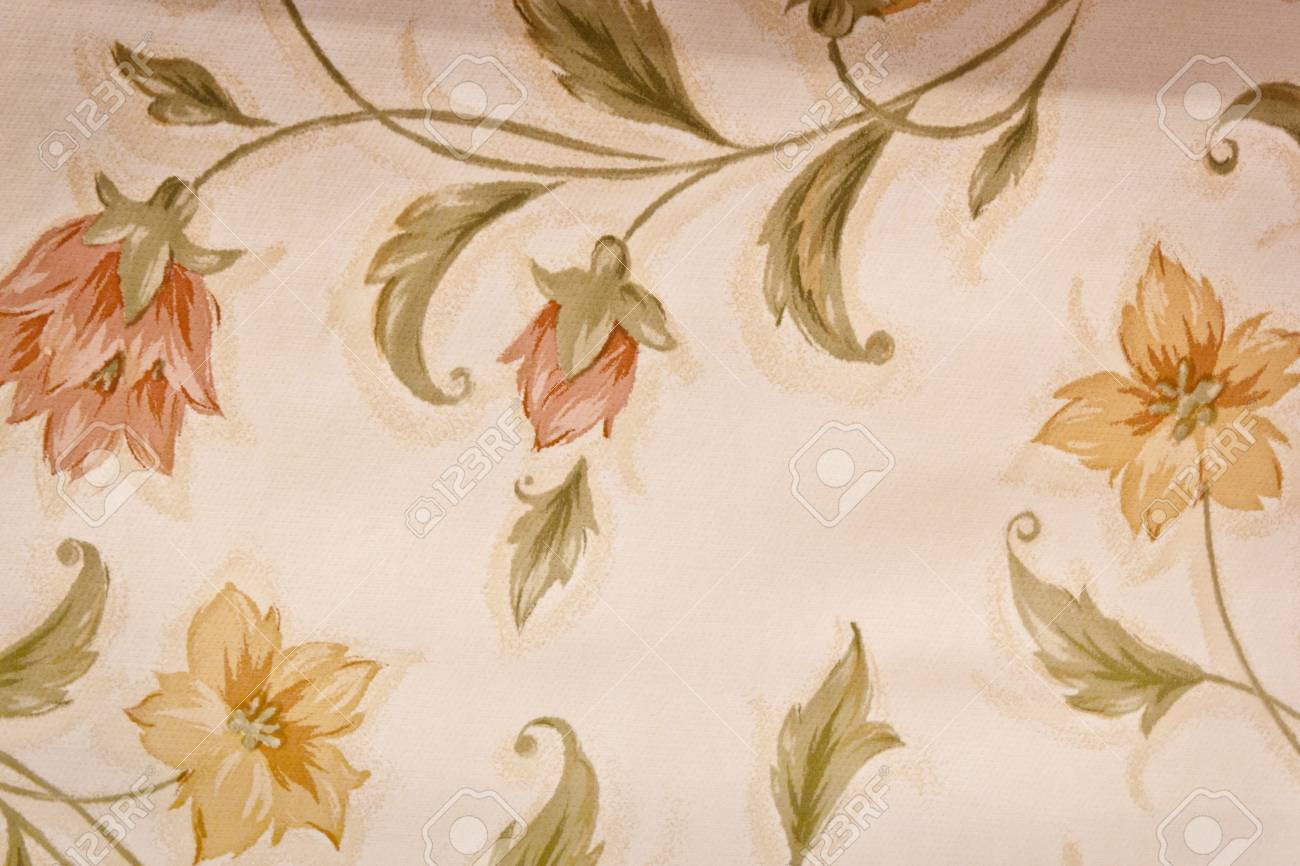 Vintage canvas Texture with flowers design for covering table Stock Photo - 21920239