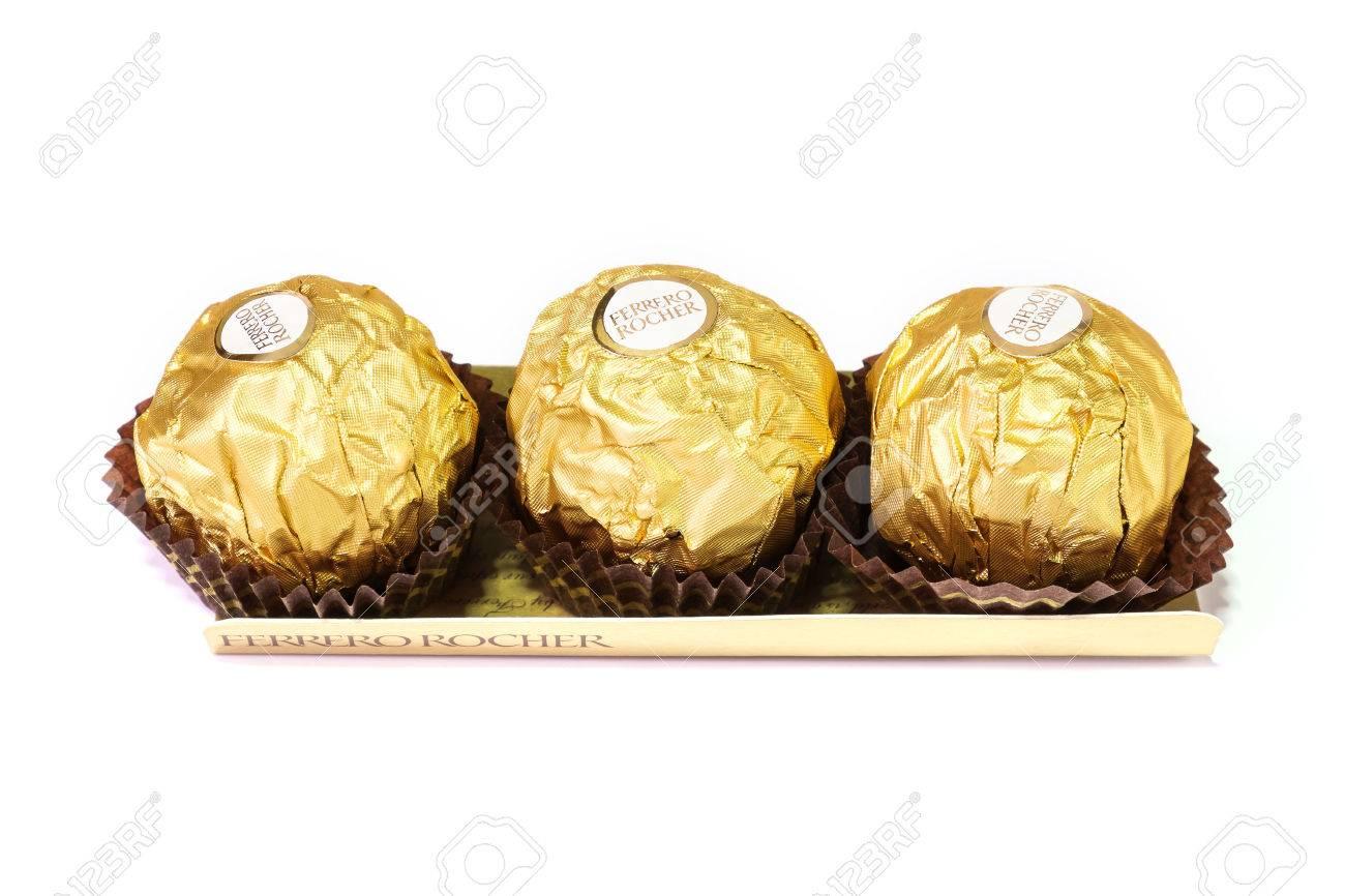 Bangkok Thailand - December 31: Ferrero Rocher Chocolates On ...