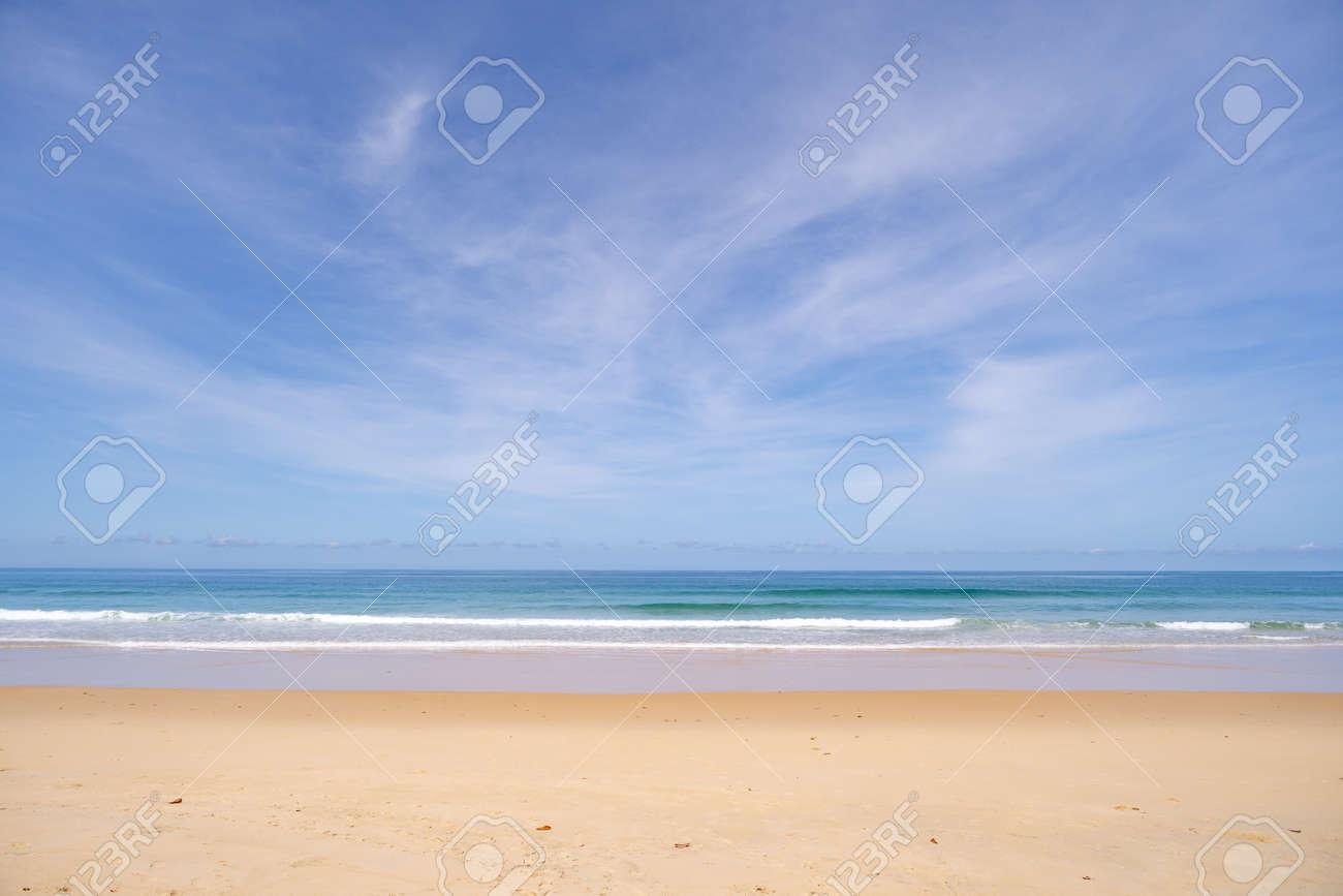 Beautiful sandy beach and tropical sea in summer season - 156000769