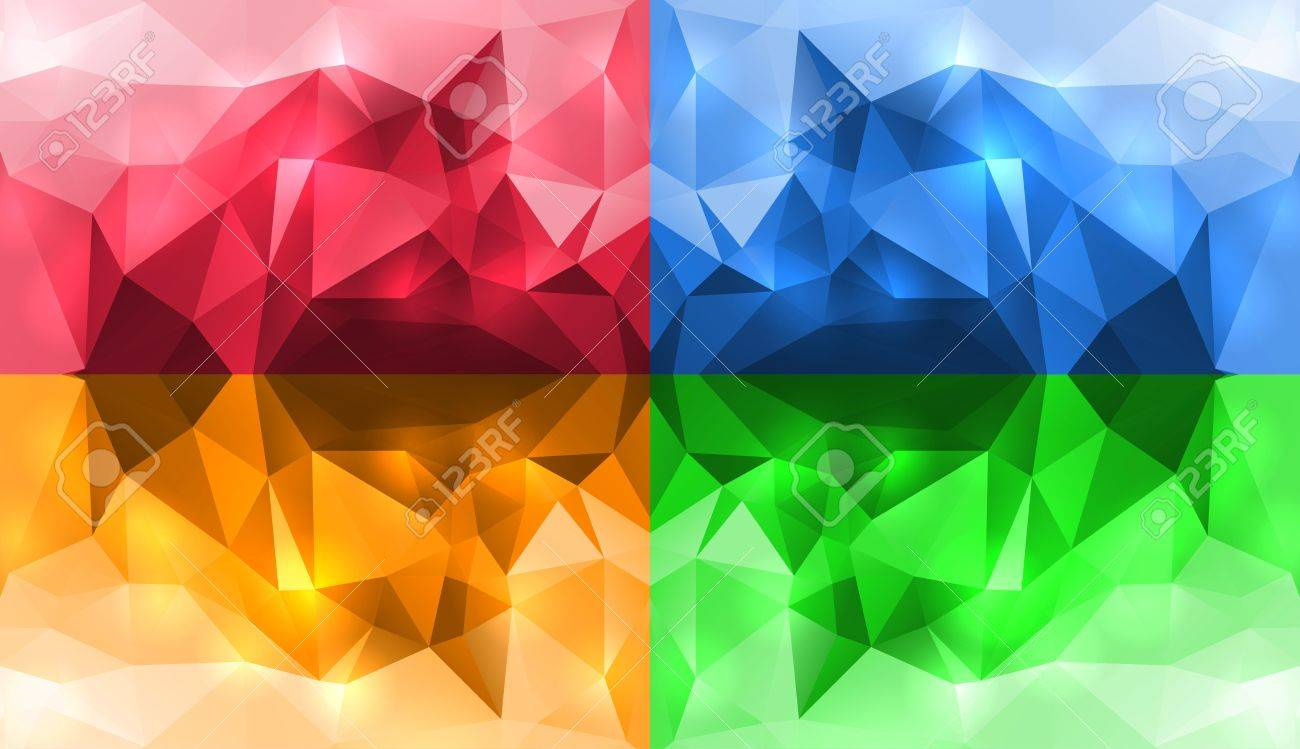 Abstract Crystal Wallpapers Stock Vector