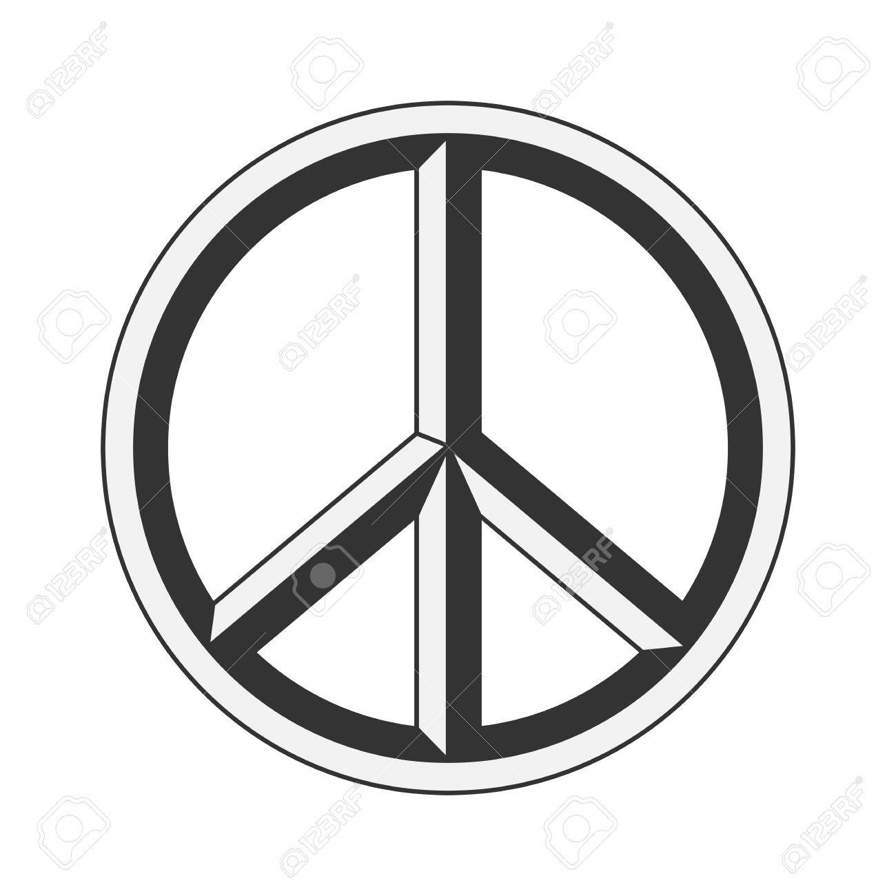 peace sign hippie symbol of peace vector illustration eps 10 rh 123rf com peace sign vector file vector peace sign hands