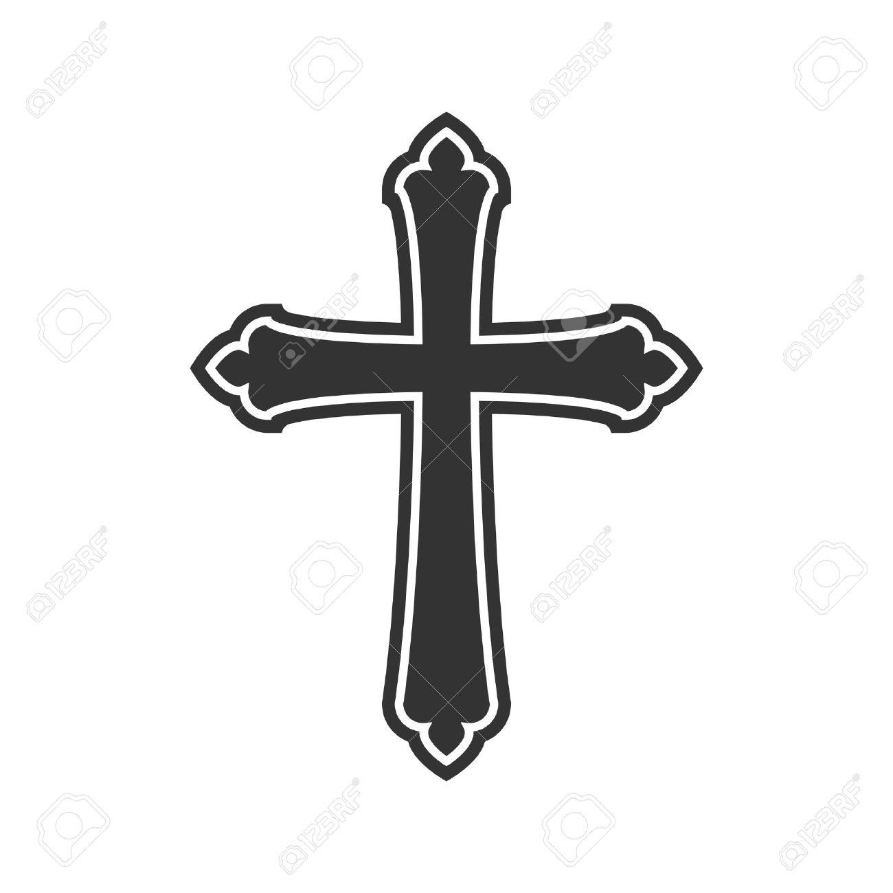 Símbolo De Una Cruz De La Iglesia. Símbolo De La Religión Del ...