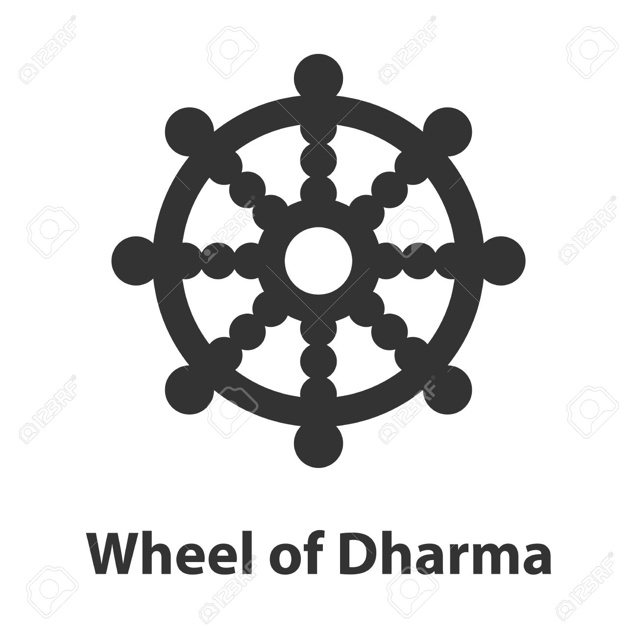 Icon of wheel of dharma symbol buddhism religion sign royalty free icon of wheel of dharma symbol buddhism religion sign stock vector 68283335 buycottarizona Image collections