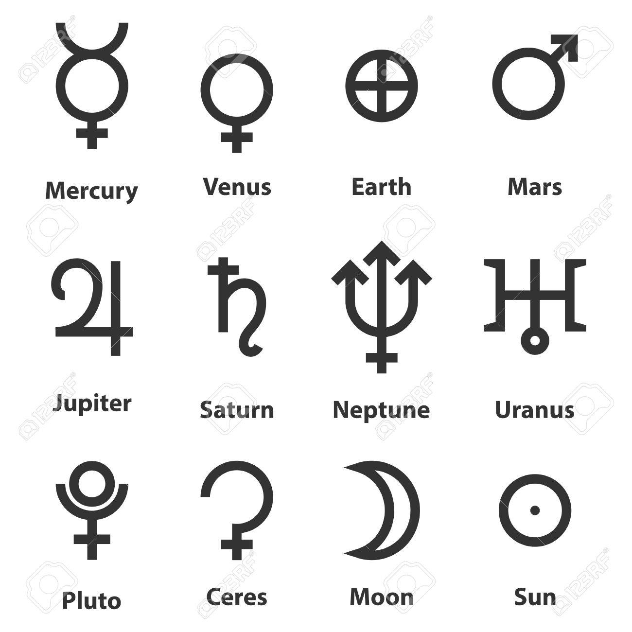 Zodiac and astrology symbols of the planets royalty free cliparts zodiac and astrology symbols of the planets stock vector 68283377 buycottarizona Choice Image