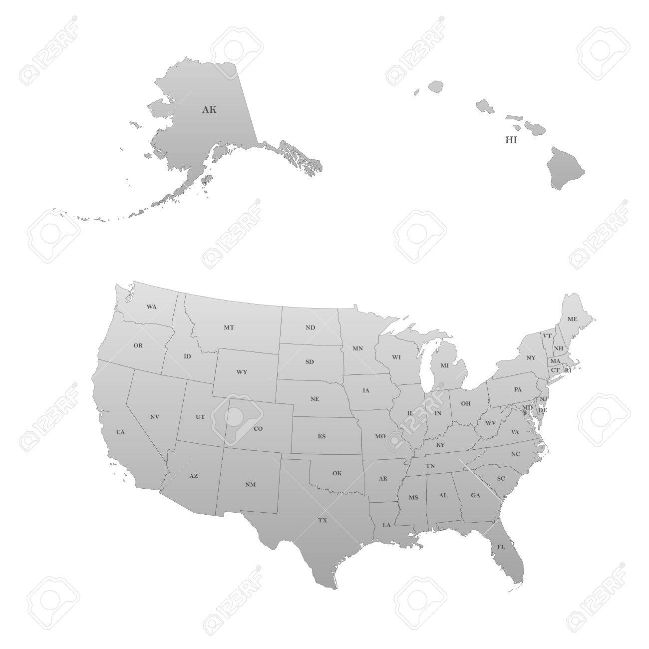 Detailed Map Of The United States, Including Alaska And Hawaii ...