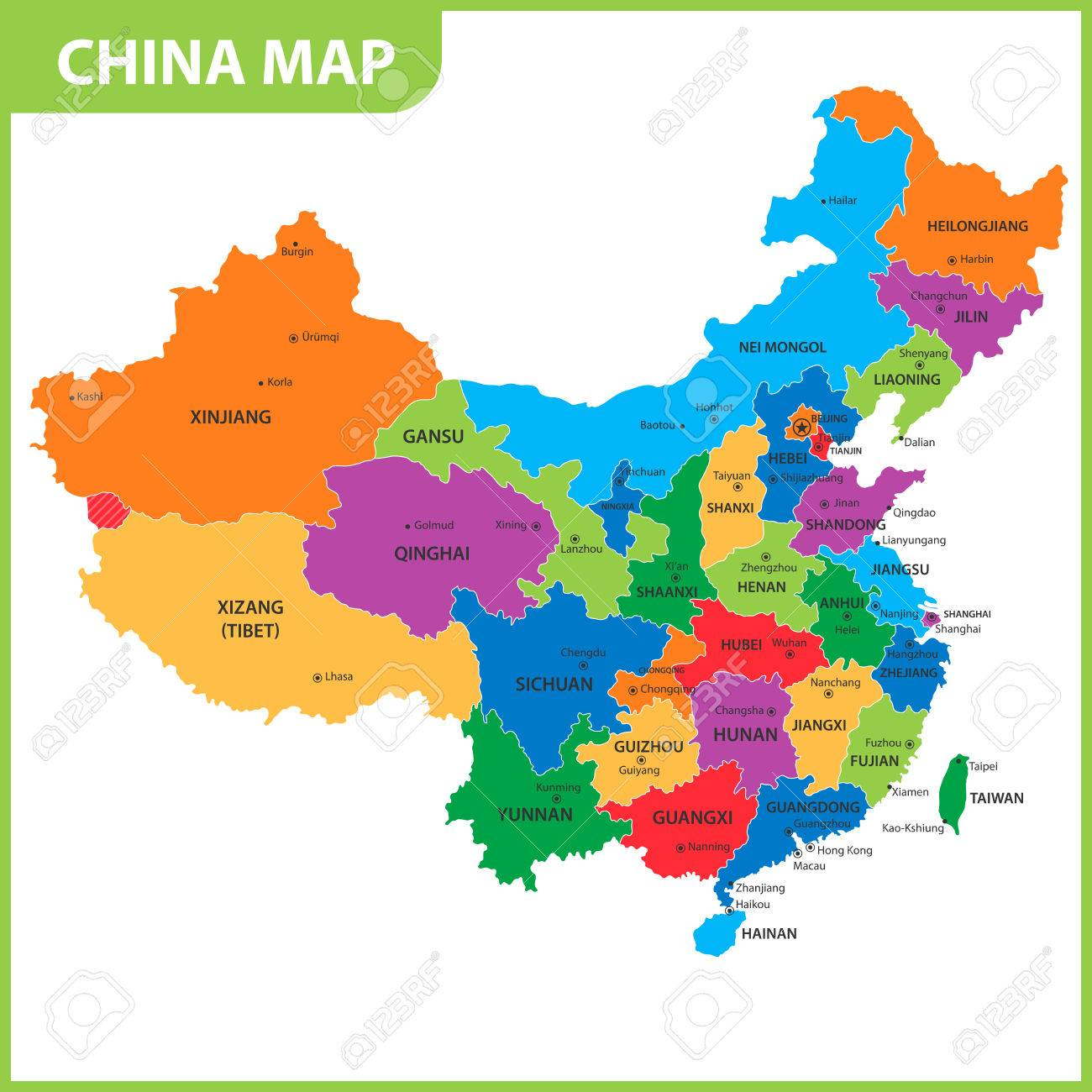 China Map With States on