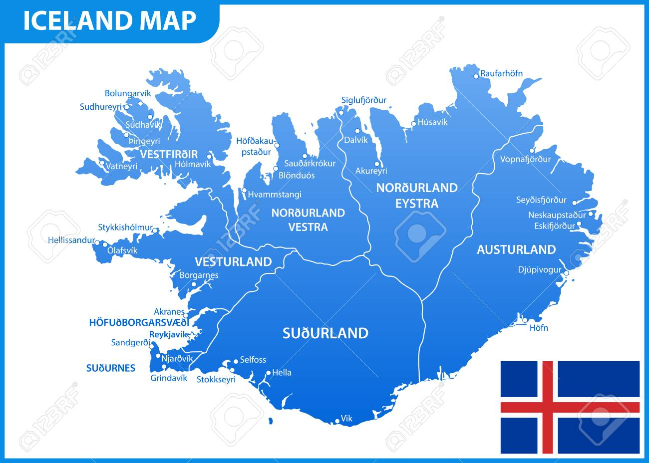 The detailed map of Iceland with regions or states and cities,.. on jamaica state map, albania state map, denmark state map, hungary state map, haiti state map, park city utah state map, nunavut state map, nepal state map, united states of america state map, ukraine state map, france state map, north east region state map, bahamas state map, antarctica state map, malaysia state map, romania state map, mongolia state map, bolivia state map, iceland summer, paraguay state map,