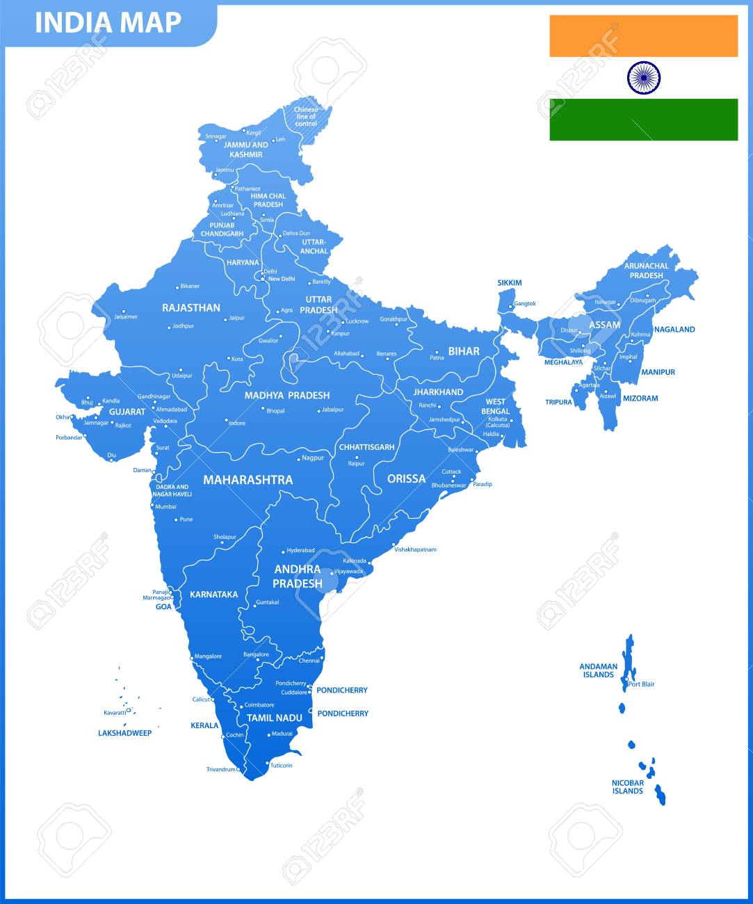 The detailed map of the India with regions or states and cities,.. on indus river map, india country map, india largest cities, colombo map, india seven years war map, world time zone map, india blank map, ayodhya india map, india education map, deccan plateau india map, india map states, bangalore india map, india and all its cities, india subcontinent political map, india clothing map, india london map, india physical map, madras india map, india high speed rail map, india heart map,
