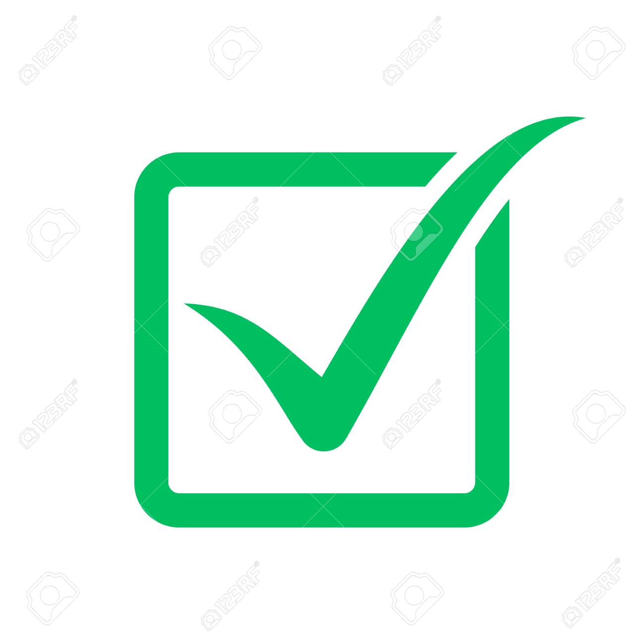 Check mark symbol, check box icon - 114282010