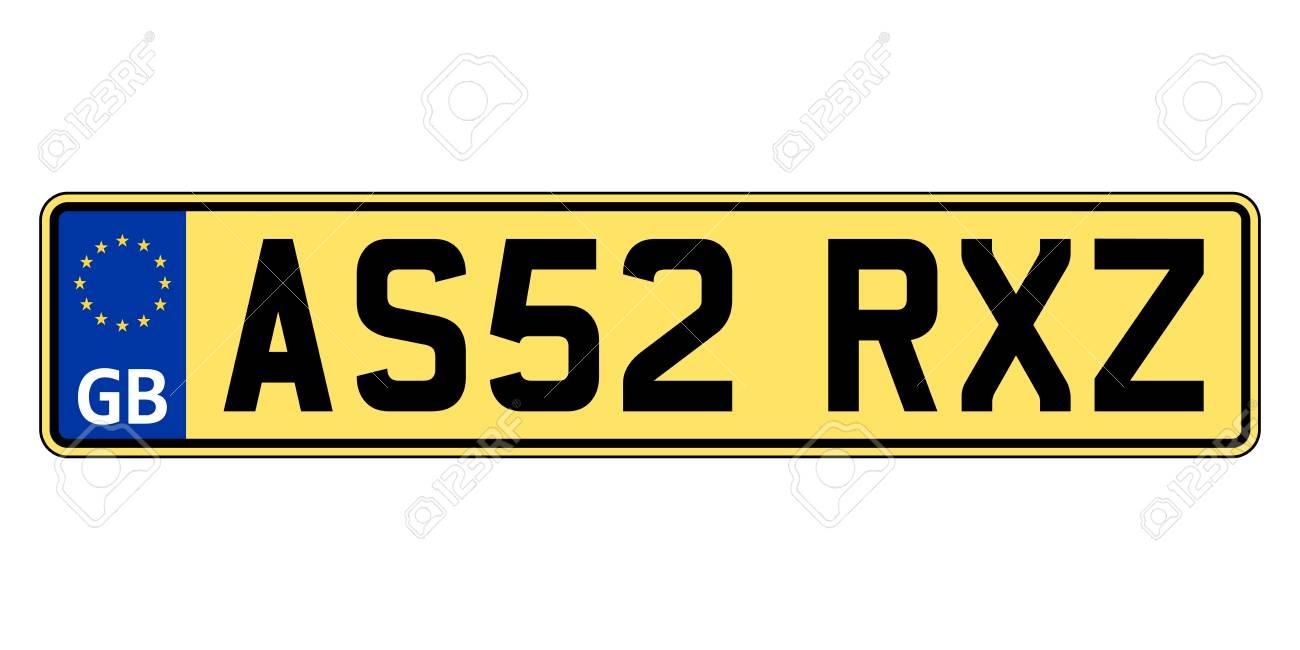 Great Britain, United Kingdom car plate. Vehicle registration number - 114282661
