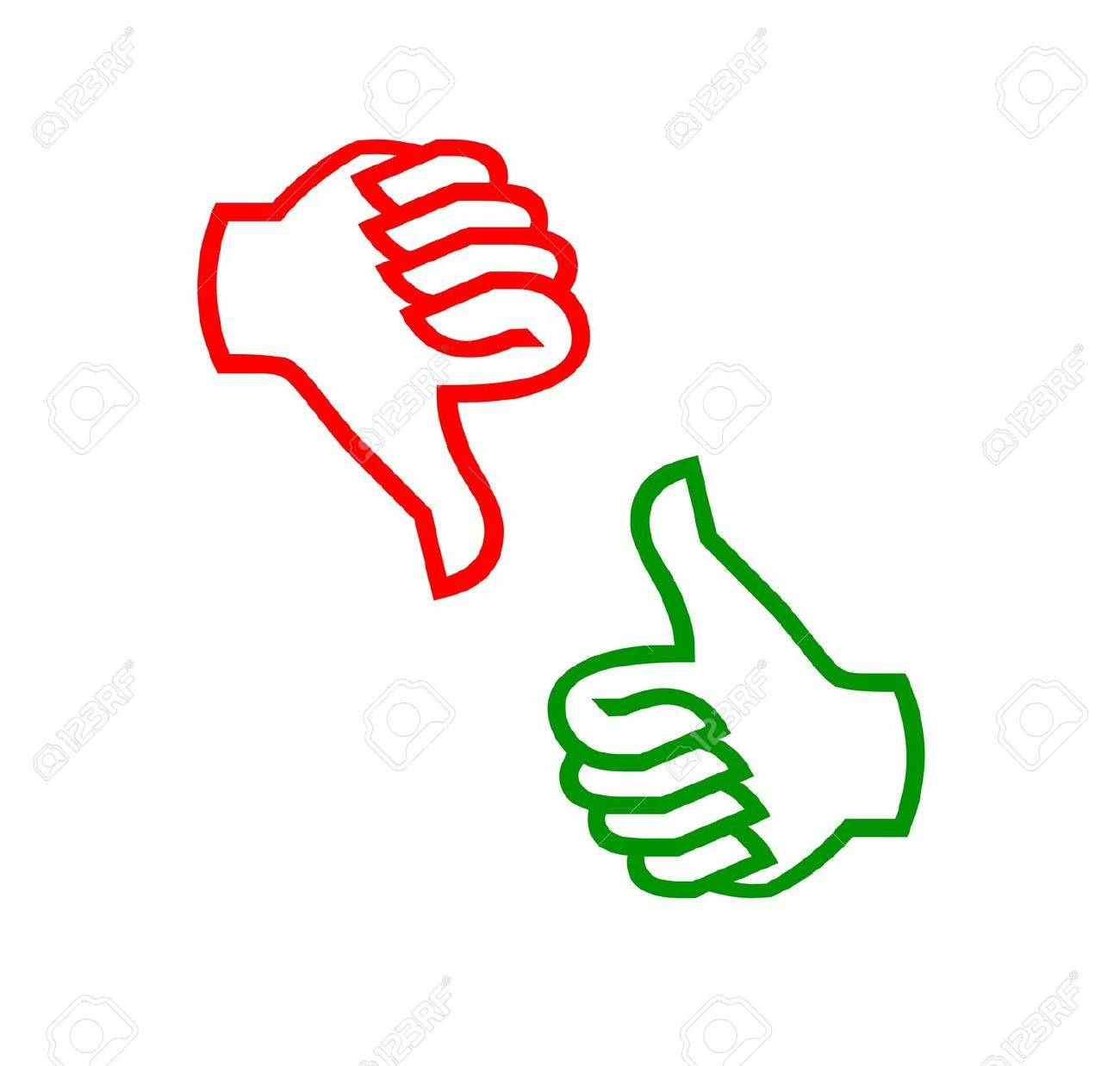 Image result for thumbs up or down