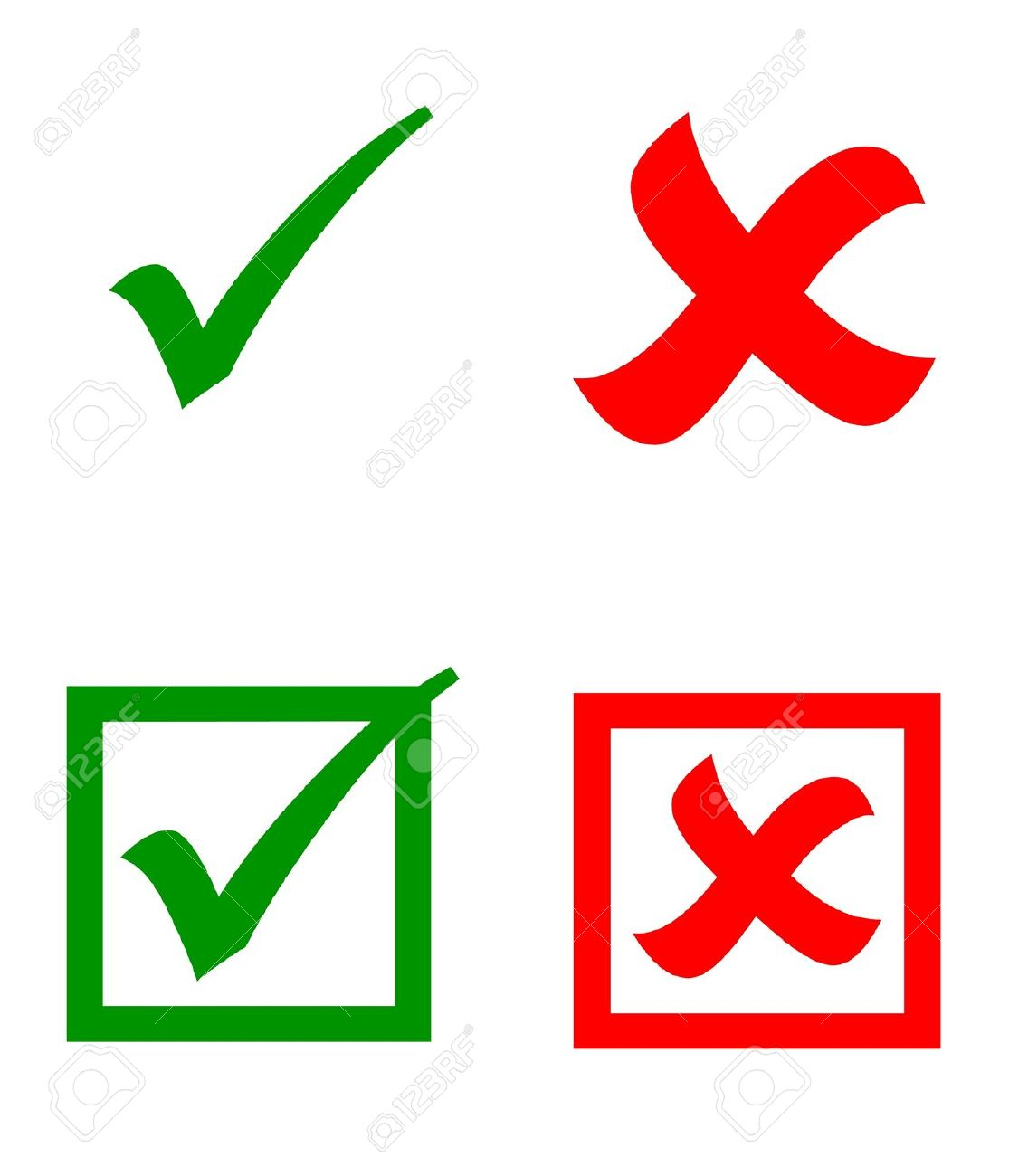 Check Mark Stickers Stock Photo Picture And Royalty Free Image
