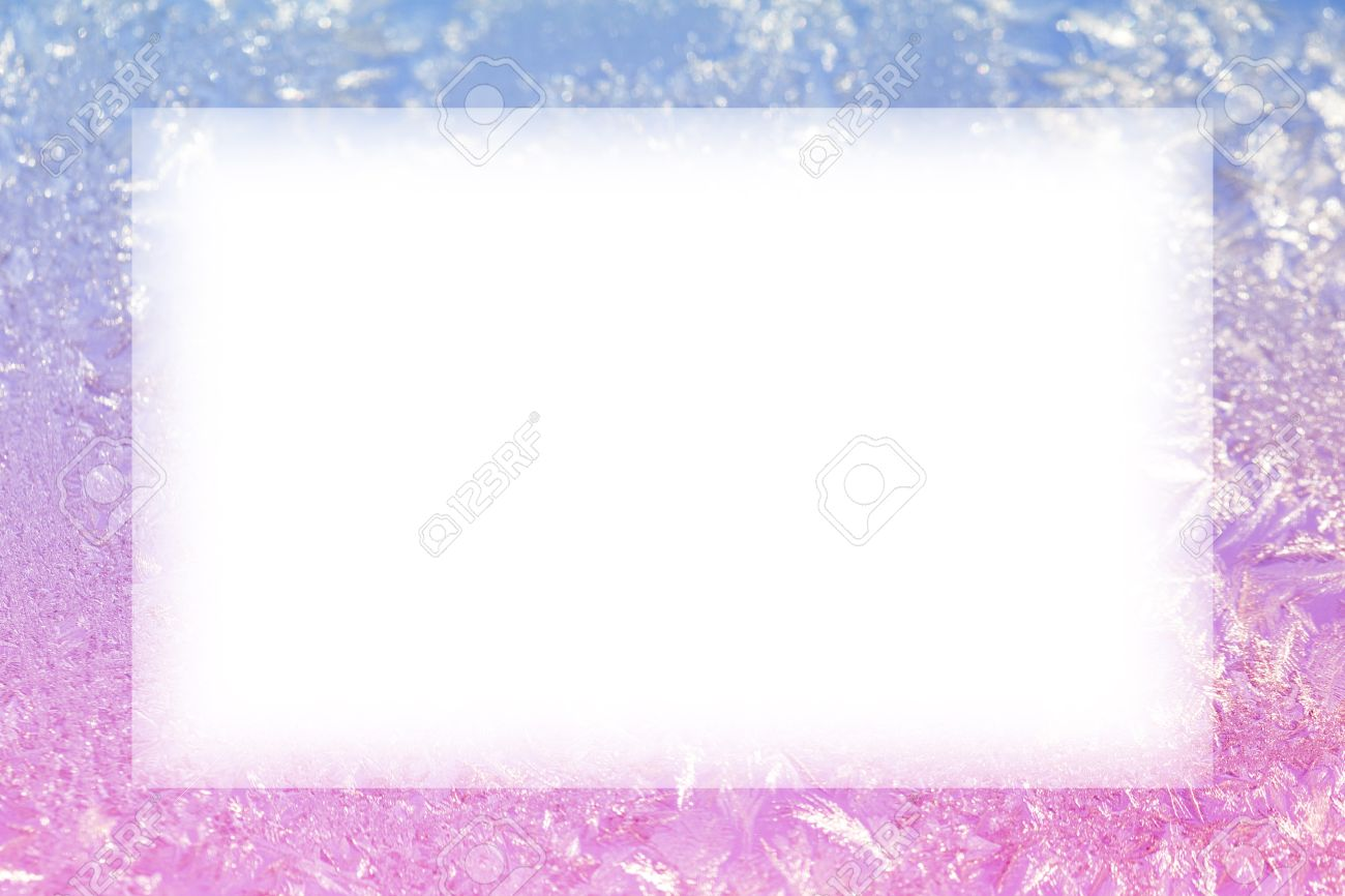 Winter Ice Background Frozen Frame Stock Photo, Picture And Royalty ...